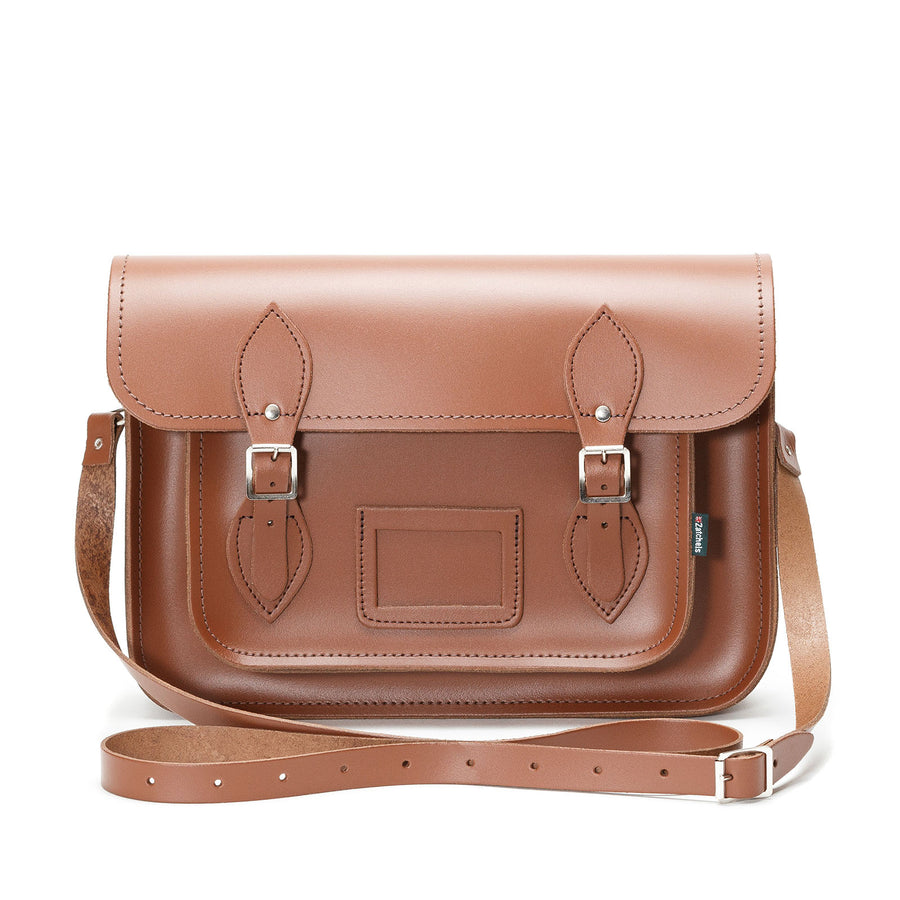 0fb1bbfc0d419 Chestnut Leather Satchel
