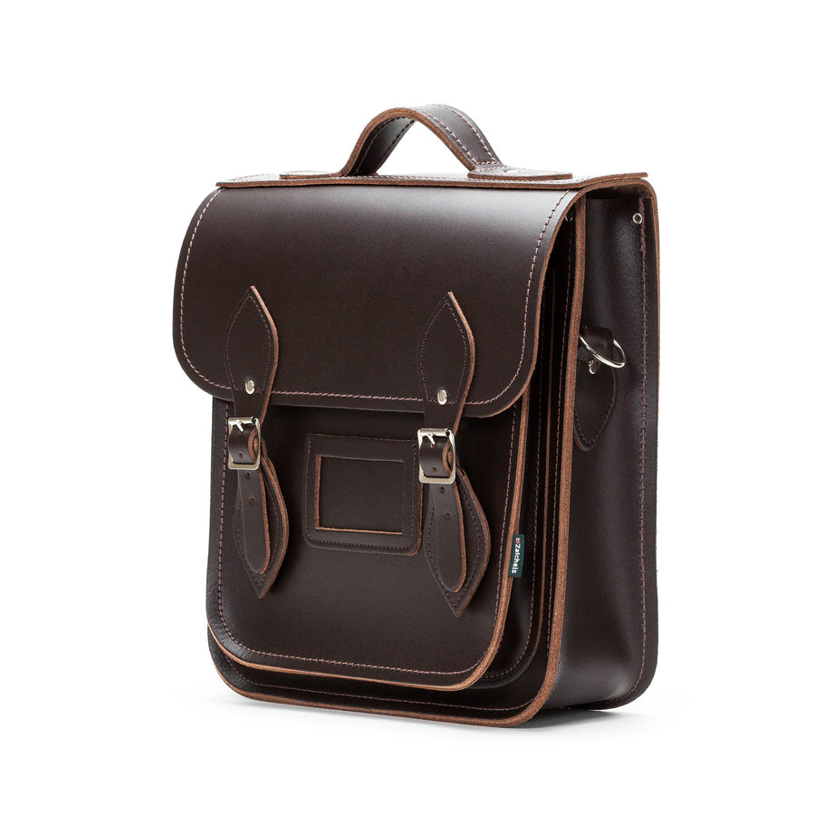 Dark Brown Leather City Backpack