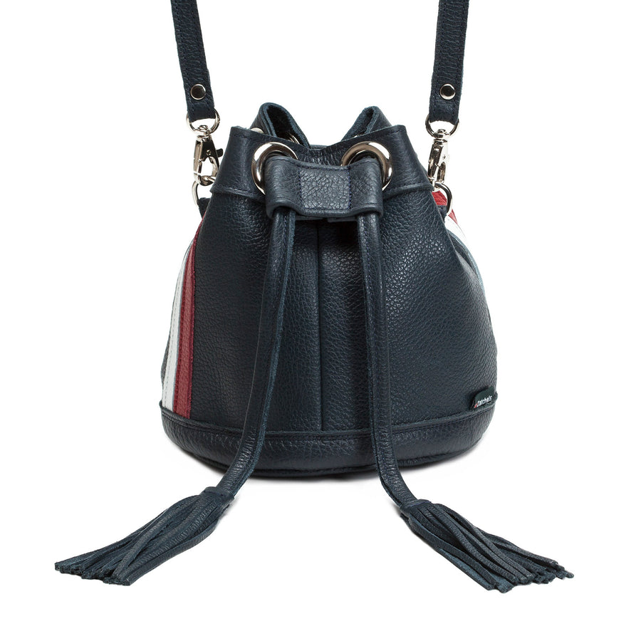 Empire Leather Bucket Bag