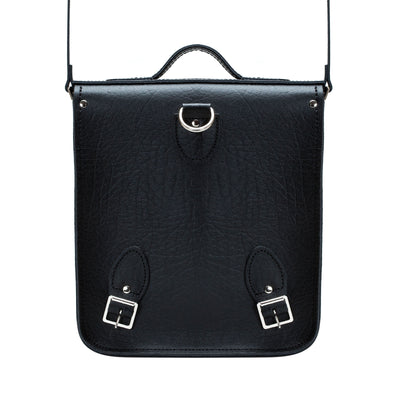 Black Executive Leather City Backpack