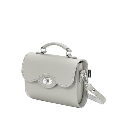 Ghost Leather Twist Lock Clutch Bag