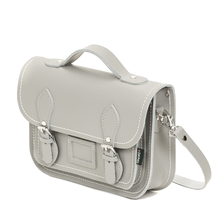 Ghost Leather Midi Satchel