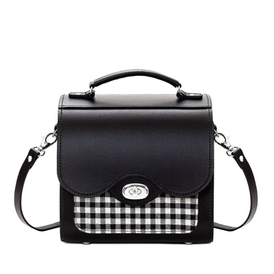 Gingham Leather Sugarcube