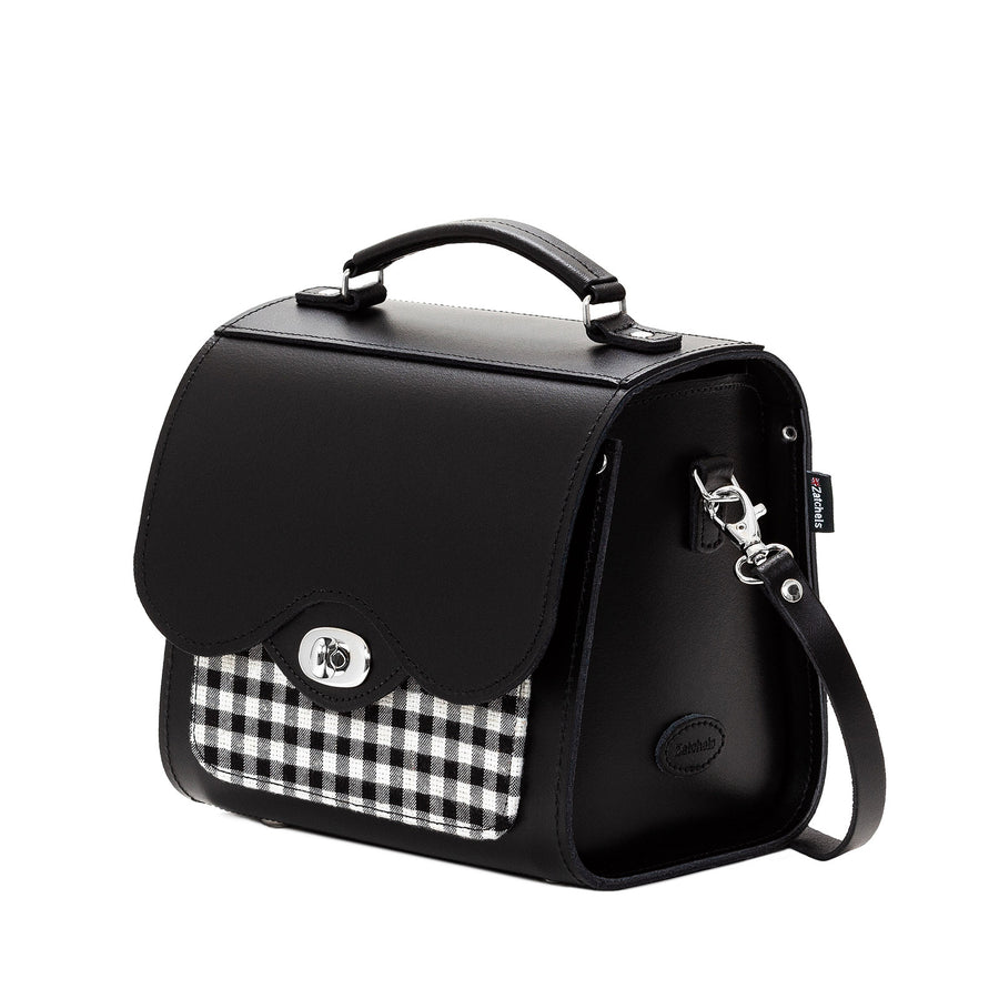 Gingham Leather Sugarcube - Sugarcube - Zatchels