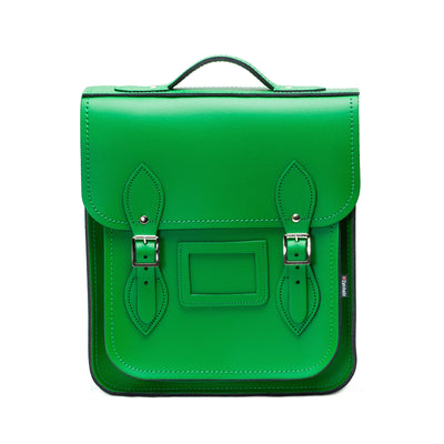 Green Leather City Backpack
