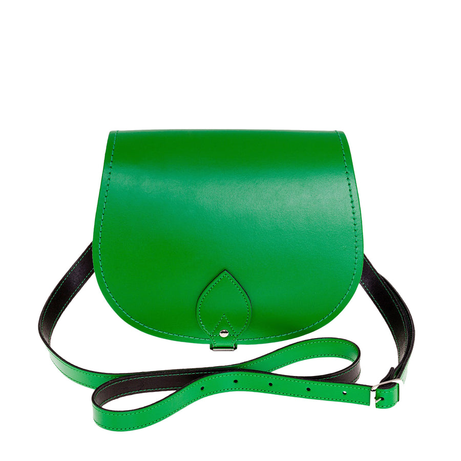 Green Leather Saddle Bag