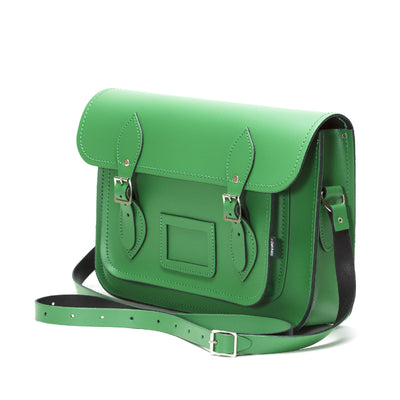 Green Leather Satchel