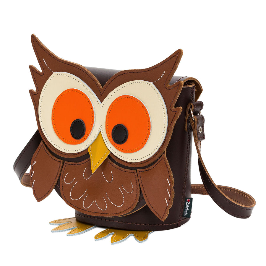 Hoot Owl Animal Leather Novelty Bag