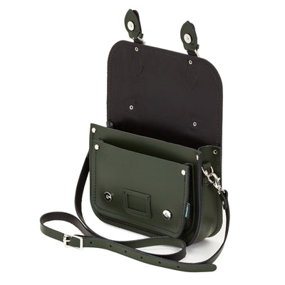 Ivy Green Leather Midi Satchel