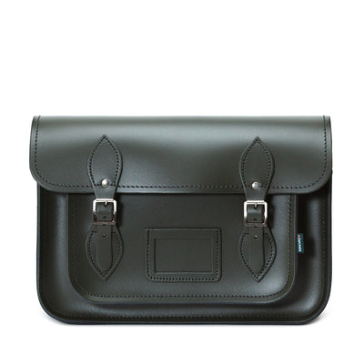 Ivy Green Leather Satchel