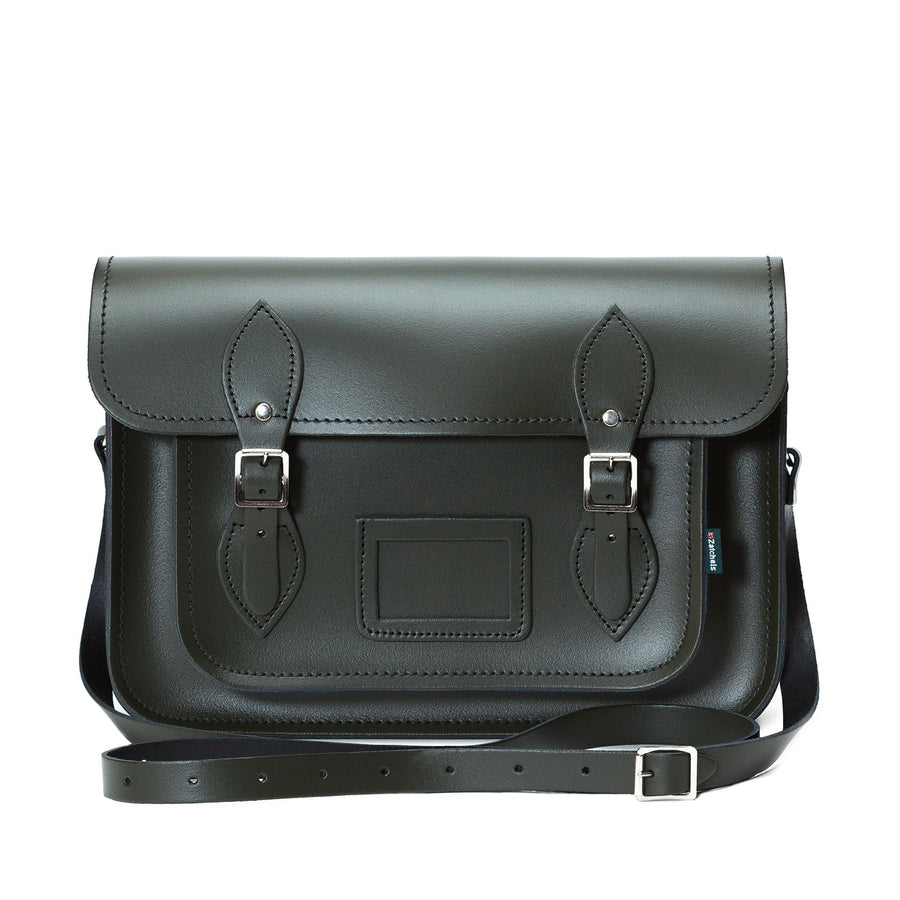 Ivy Green Leather Satchel - Satchel - Zatchels