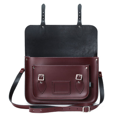 Marsala Red Leather Satchel