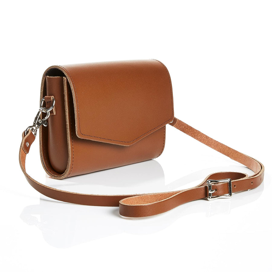 Chestnut Leather Clutch