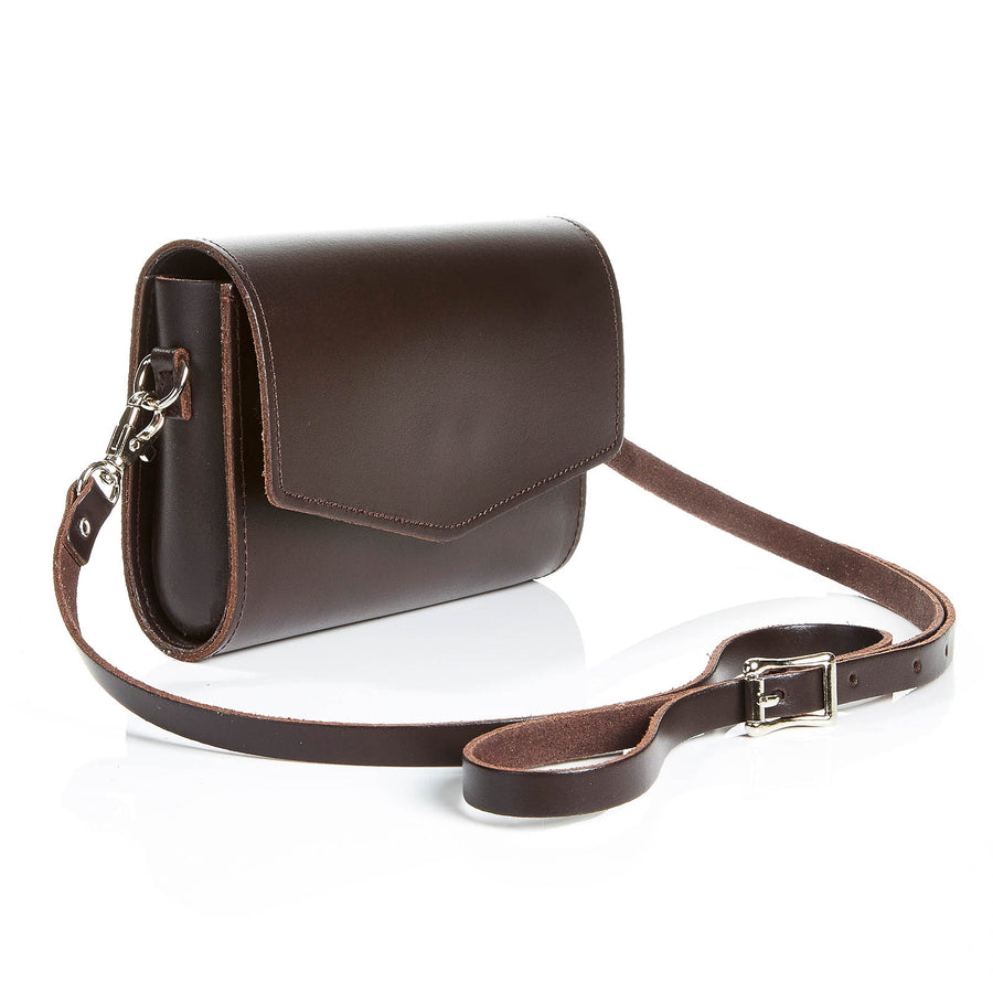 Dark Brown Leather Clutch