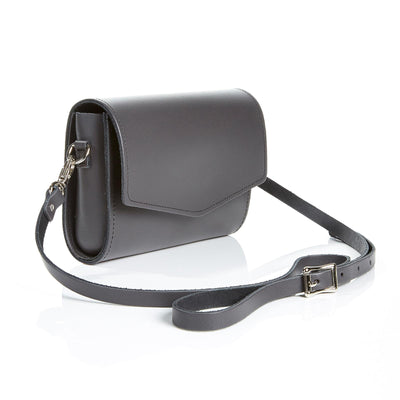 Graphite Leather Clutch