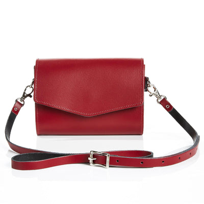Oxblood Leather Clutch