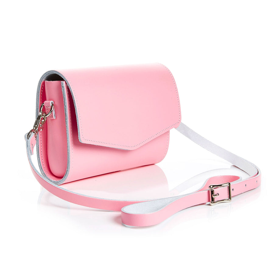 Pastel Pink Leather Clutch
