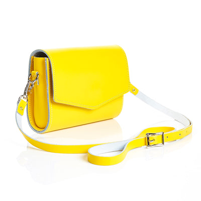 Pastel Yellow Leather Clutch