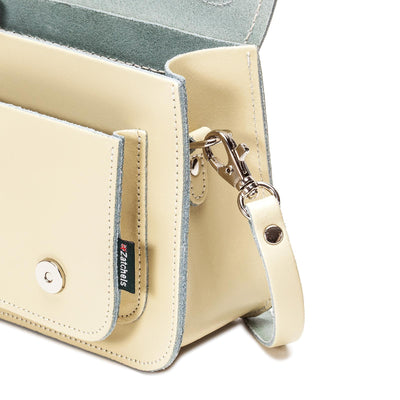 Pastel Cream Leather Micro Satchel