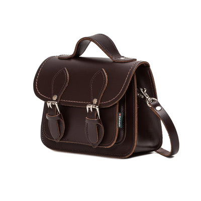 Dark Brown Leather Micro Satchel