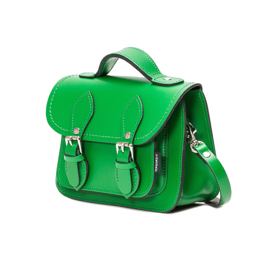 Green Leather Micro Satchel