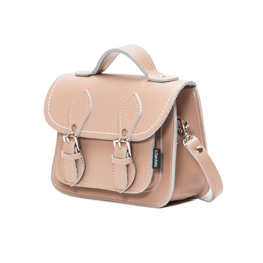 Iced Coffee Leather Micro Satchel