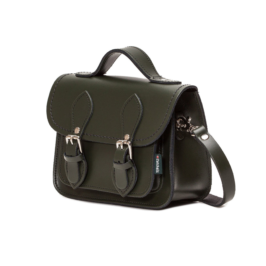 Ivy Green Leather Micro Satchel