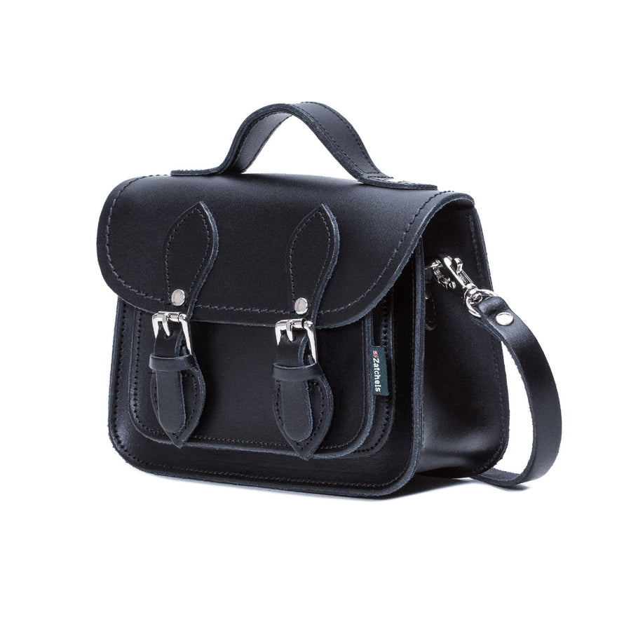 Navy Leather Micro Satchel