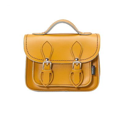 Yellow Ochre Leather Micro Satchel