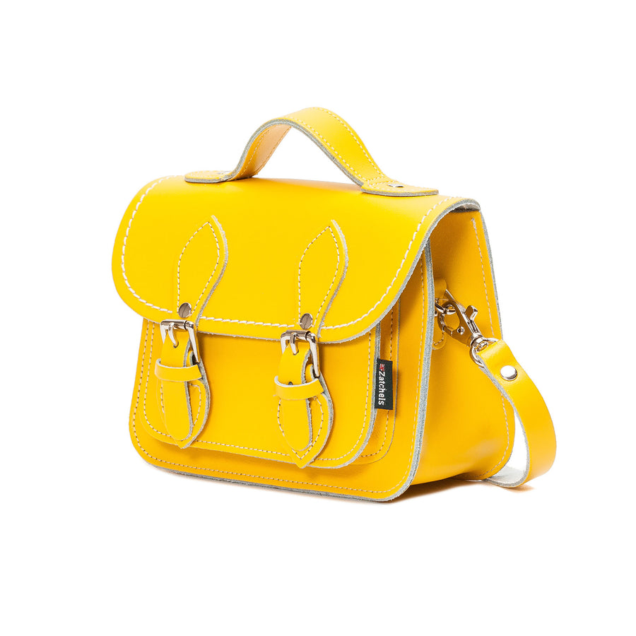 Pastel Daffodil Yellow Leather Micro Satchel