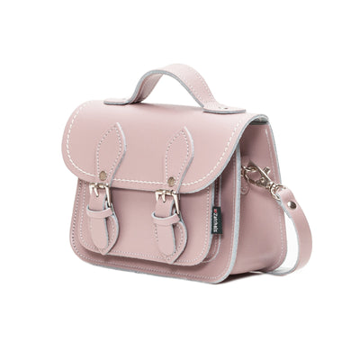 Rose Quartz Leather Micro Satchel