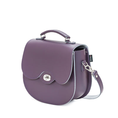 Nile Leather Twist Lock Saddle Bag
