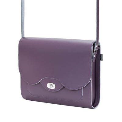 Nile Leather Twist Lock Shoulder Bag