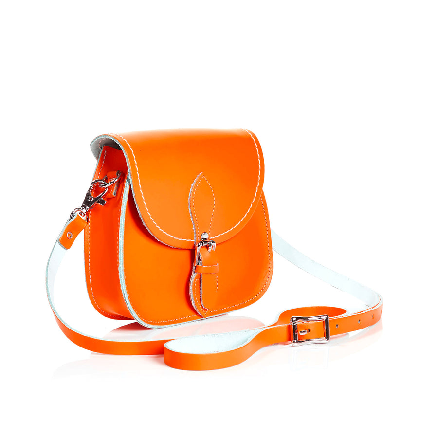 Orange Leather Micro Saddle