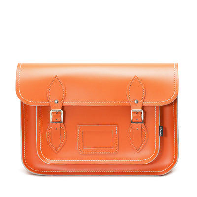 Orange Leather Satchel