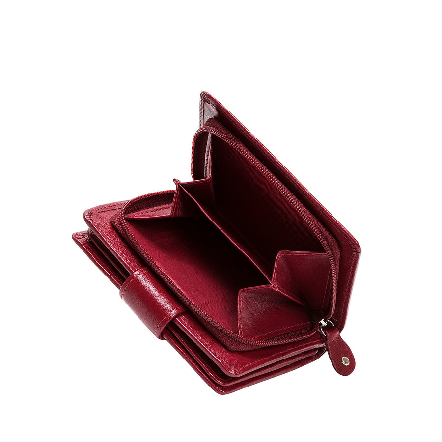 Oxblood Leather Mini Purse