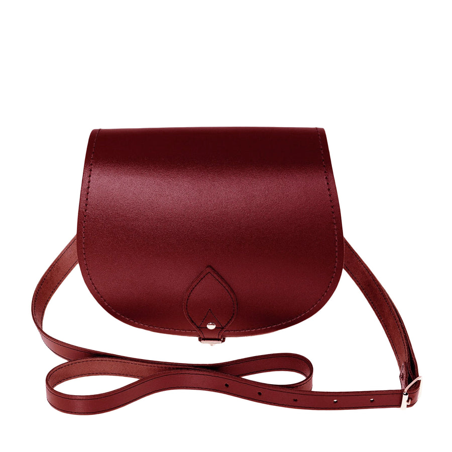Oxblood Leather Saddle Bag