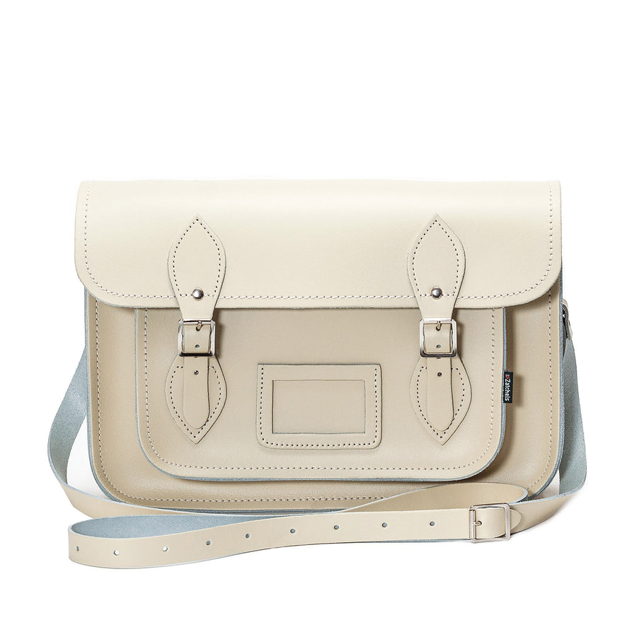 Pastel Cream Leather Satchel