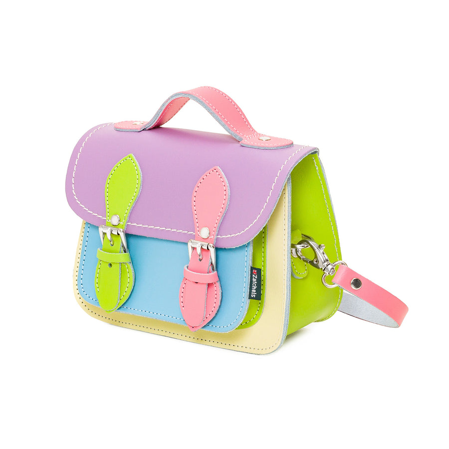 Pastel Kaleidoscope Leather Micro Satchel