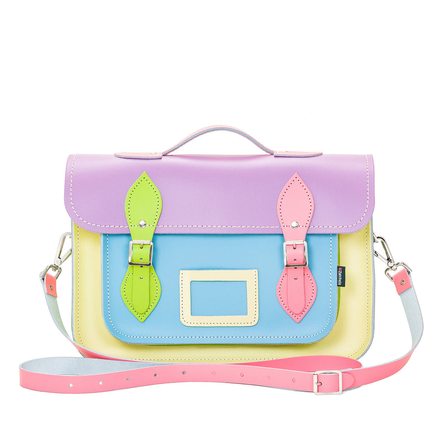 Pastel Kaleidoscope Leather Satchel