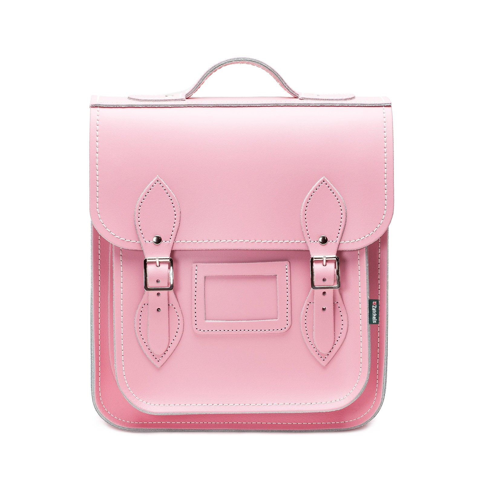 6bc5c00404ea Pastel Pink Leather City Backpack - Zatchels