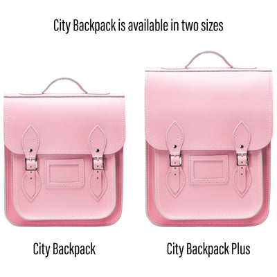 Pastel Pink Leather City Backpack