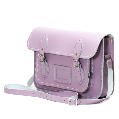 Pastel Violet Leather Satchel