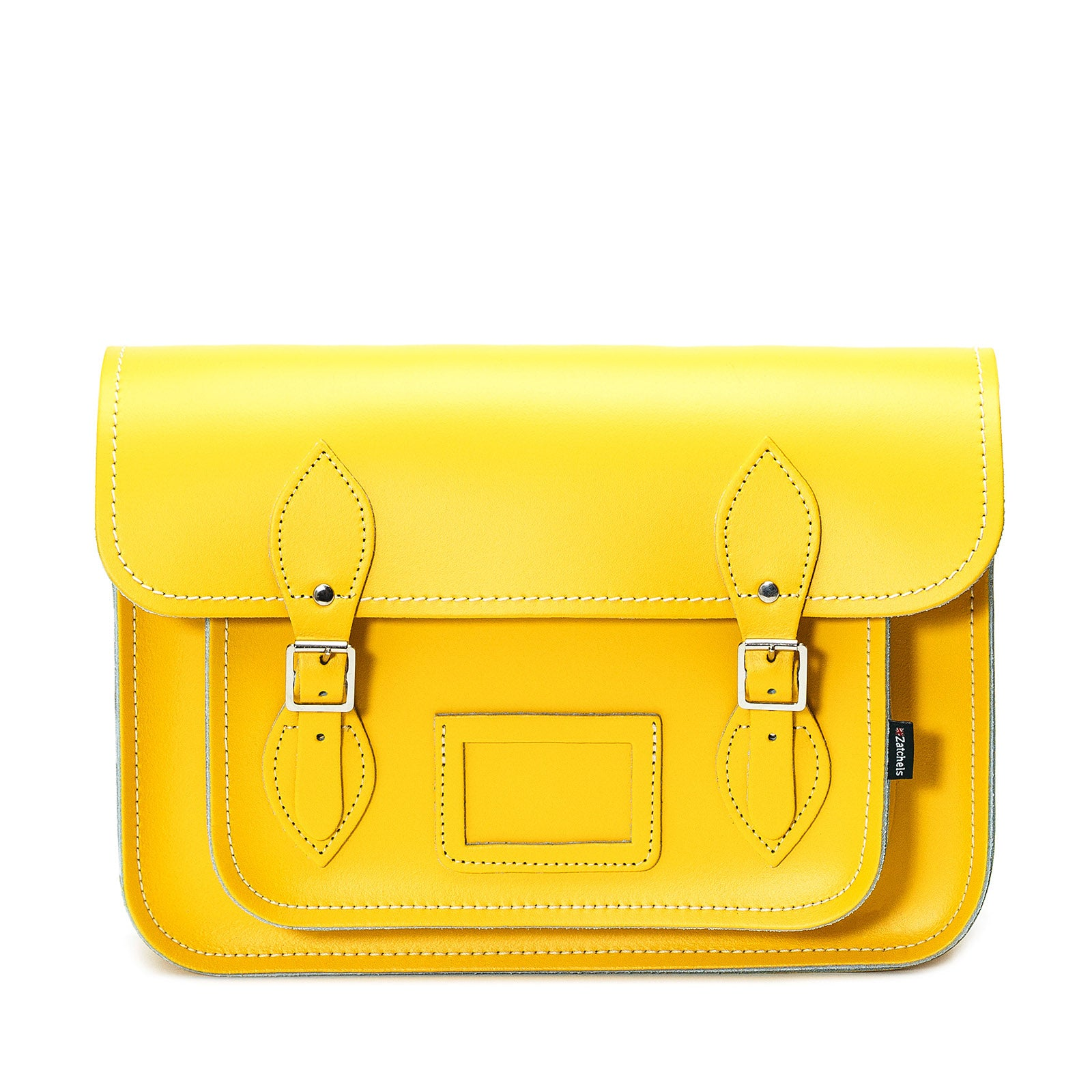 Pastel Daffodil Yellow Leather Satchel -