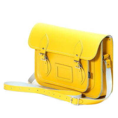 Pastel Daffodil Yellow Leather Satchel