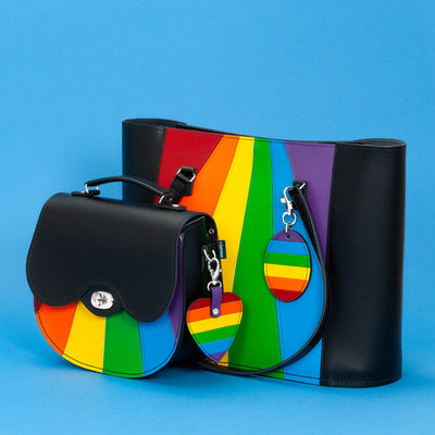 Pride Leather Heart Charm - Accessories - Zatchels