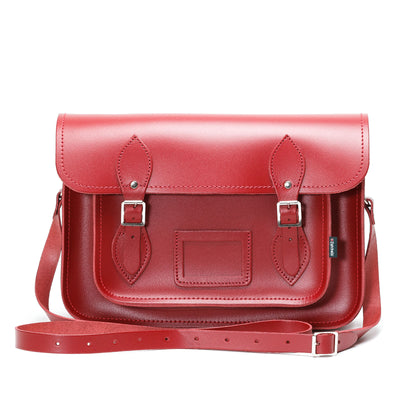 Red Leather Satchel - Satchel - Zatchels