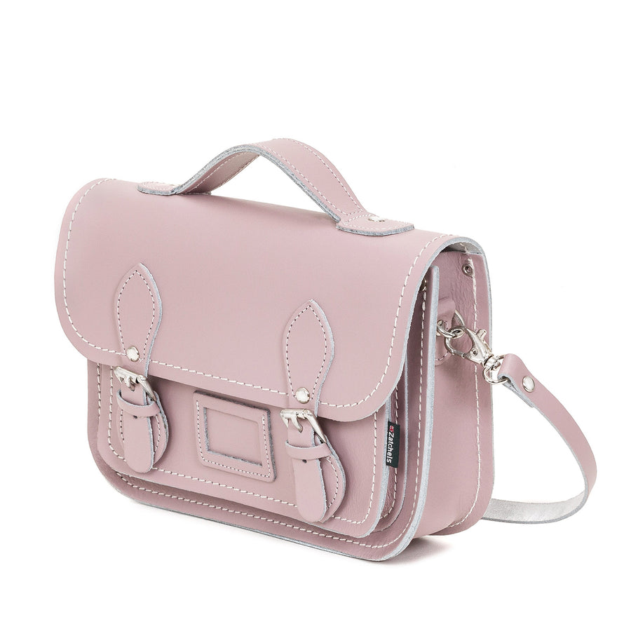 Rose Quartz Leather Midi Satchel