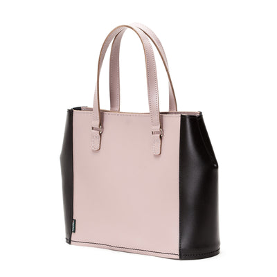 Rose Truffle Leather Tote Bag