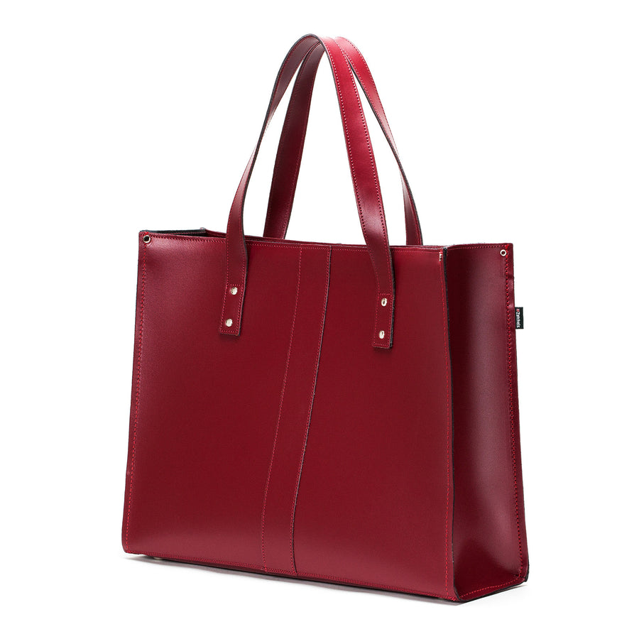 Oxblood Leather Shopper